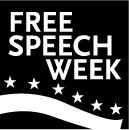 Free Speech Week Logo Main BW Black