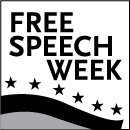 Free Speech Week Logo Main BW White