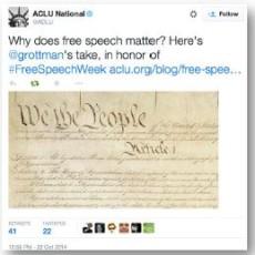 ACLU tweet