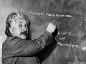 Einsteinfreespeechlessonplan