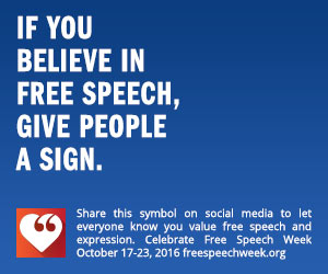 If you believe in free speech, give people a sign.