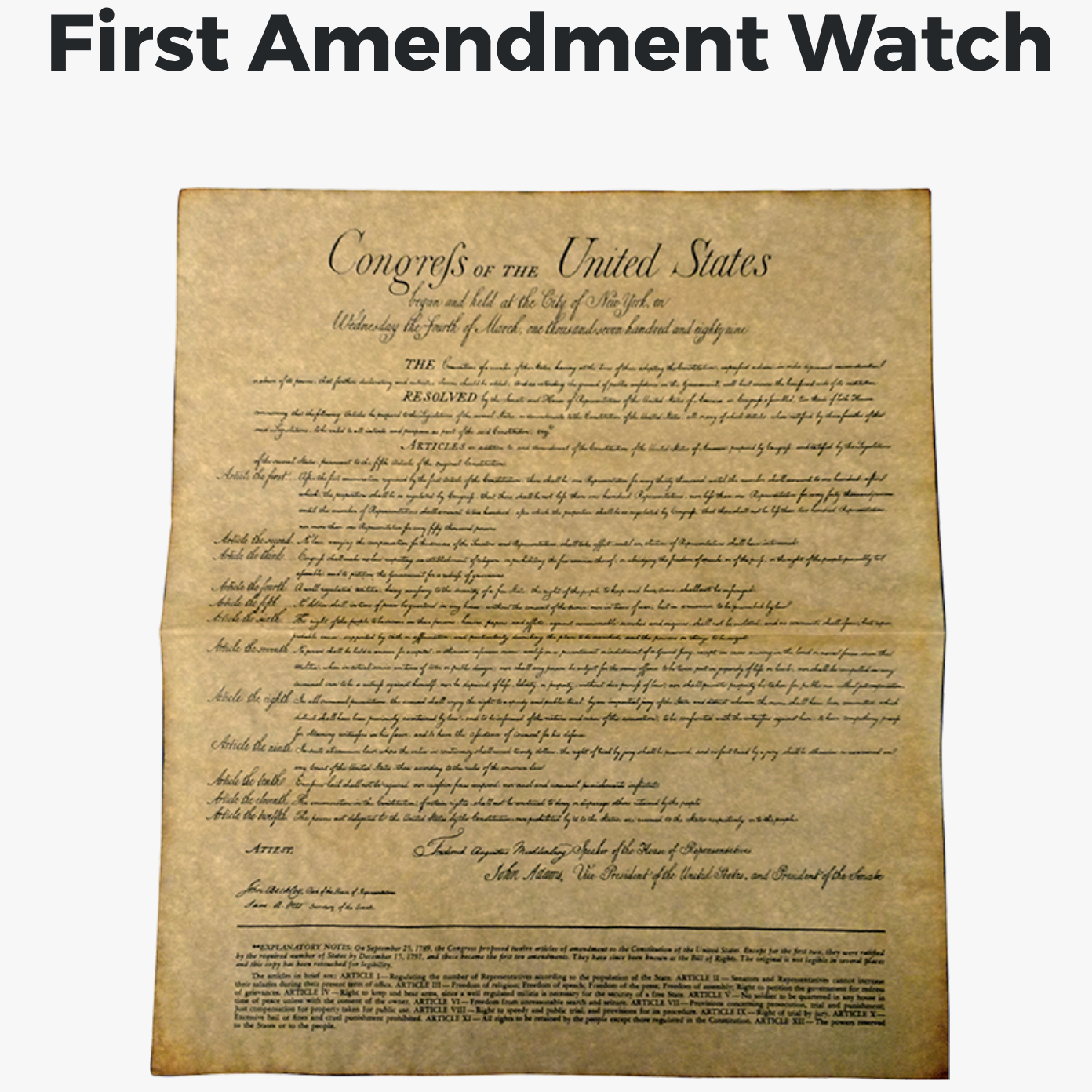 First Amendment Watch